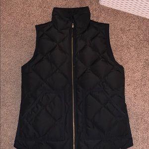 Black JCrew Puffer Vest